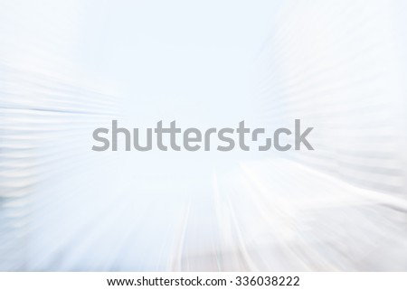 Abstract blurred background on street, perspective technique. - stock photo