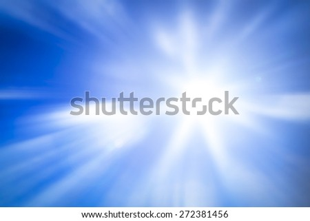 Abstract blurred blue sky and clouds background.