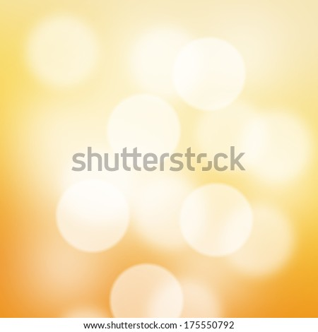 Abstract blurred bokeh orange background