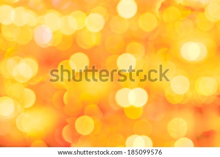 Abstract blurred bokeh  yellow background - stock photo