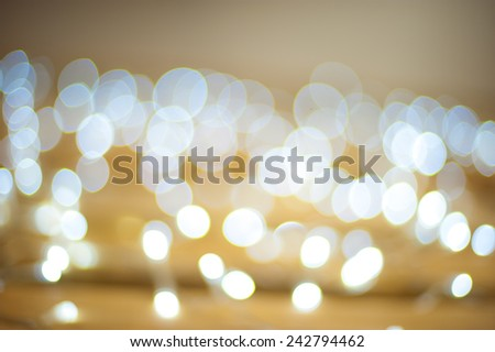 Abstract blurred circular light background of white light bokeh  - stock photo