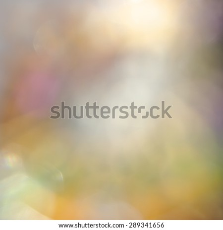 Abstract blurred  color blended  dabs bokeh background. - stock photo