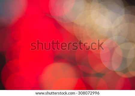 Abstract blurred colorful bokeh light backgrounds : red and yellow light christmas festival for decorate,design and etc. - stock photo