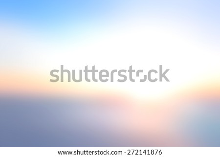 Abstract blurred contemporary texture background - trendy health business website template with copy space: orange and blue colors patterns. Beautiful light of hope from heaven, Environment concept. - stock photo