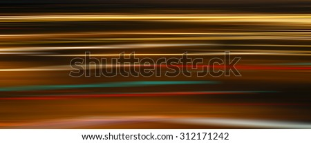 Abstract blurred defocused city motion effect on the street with cars - stock photo