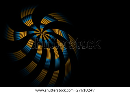 Abstract blurred digital star background - stock photo
