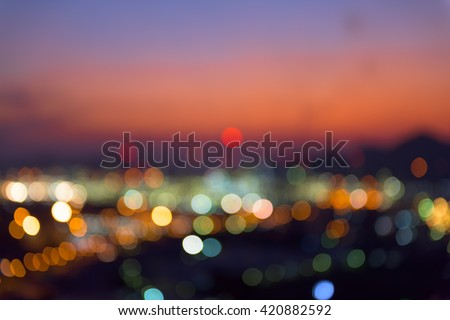 Abstract blurred lights background, Night city. - stock photo