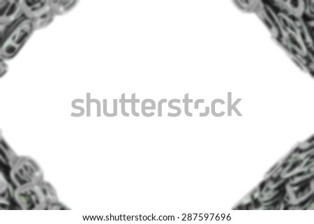 Abstract blurred, Metal ring pull for can opener isolated on white. - stock photo