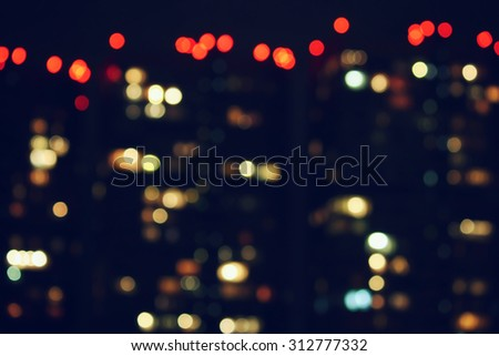 Abstract blurred night city lights - stock photo