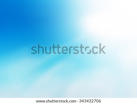 Abstract Blurred of clouds sky background. Blue sky white sunlight background.