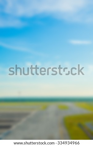 Abstract blurred of runaway on the airport. - stock photo