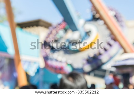 abstract blurred plaything in fun park