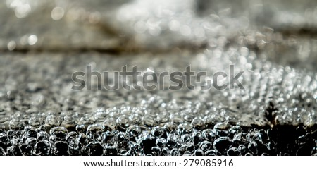 Abstract blurred water drops bokeh