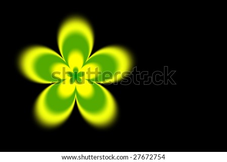 Abstract blurred yellow green flower background - stock photo