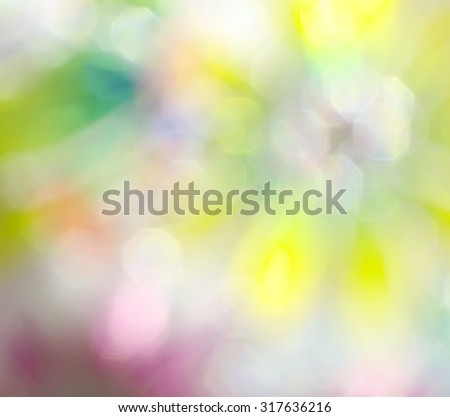 Abstract blurry multicolored bright splash bokeh background - stock photo