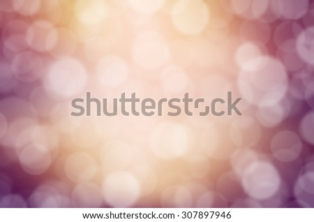 Abstract bokeh background, gold and pink color, for new year or festival background decoration. Vintage style.  - stock photo