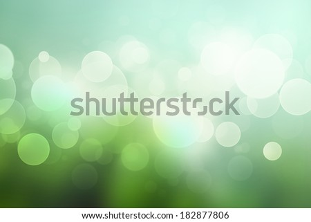 Abstract bokeh background with in soft green colors - stock photo