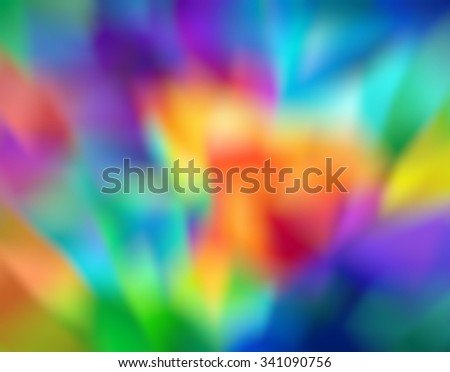 Abstract bokeh blur colorful rainbow defocused background. - stock photo