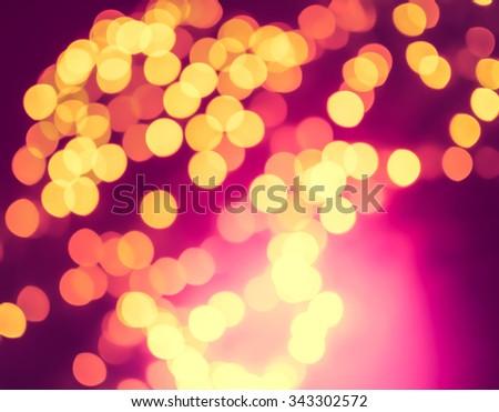 Abstract  Bokeh Christmas Lights Background. - stock photo