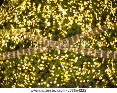 Abstract bokeh light in Christmas theme - stock photo