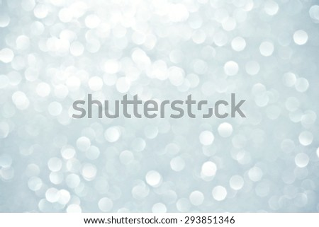 Abstract bokeh lighting background , silver color tone - stock photo