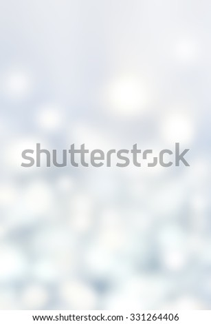 Abstract Bokeh Lights on grey background - circular reflections of Christmas blue lights, beautiful Christmas Background. - stock photo