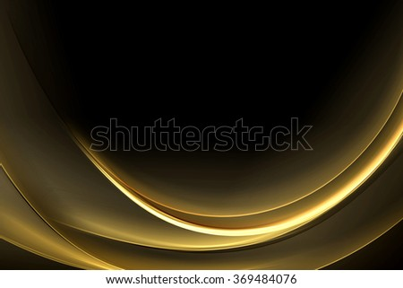 Abstract Bow Gold Wave Design Background
