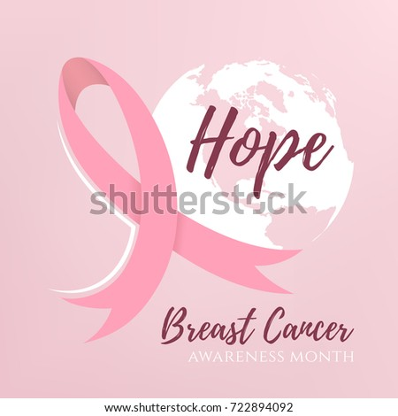 Breast Cancer Background Pink Ribbon Vector Stock Vector - Breast cancer brochure template