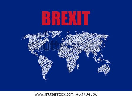 abstract brexit background  - stock photo
