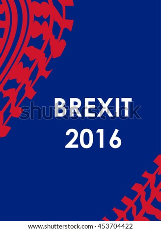 abstract brexit 2016 background with tire design - stock photo