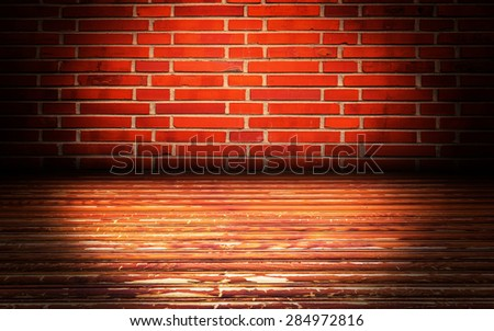 Abstract Brick Interior Walls Stage Background