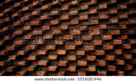 abstract brick wall layer pattern background, solid texture backdrop for architecture