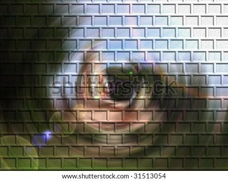 Abstract bricks texture - stock photo