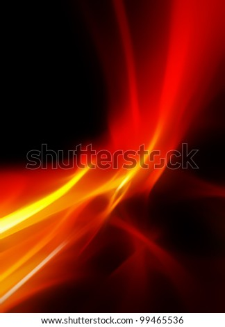 abstract bright and hot fire on black - stock photo