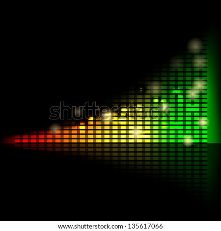 Abstract bright chart with increasing measures, symbol of success - stock photo