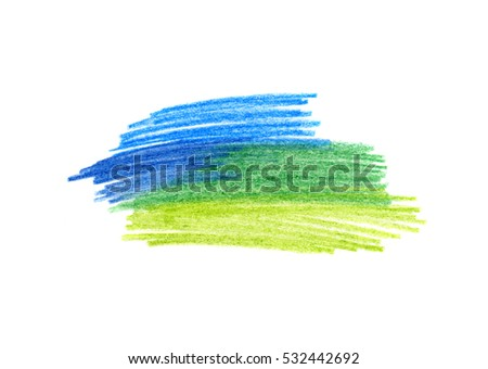 Abstract bright color hand drawn texture for design on white background