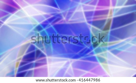 Abstract bright colorful background of blue, pink and white, with smooth lines and stains