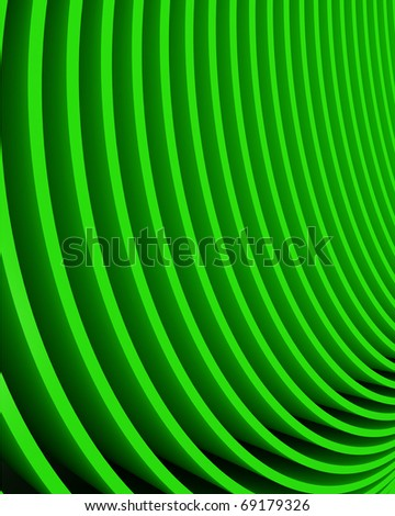 abstract bright green rows - stock photo