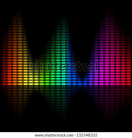Abstract bright spectral chart with instability measures. - stock photo