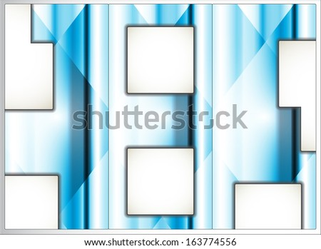 abstract brilliant advertising card template