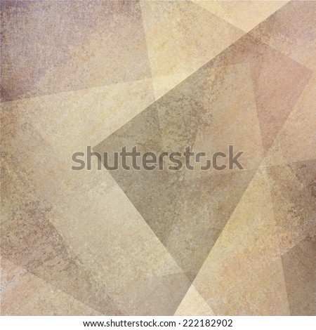 abstract brown beige background with faded gray purple grunge rectangle shapes layered in random pattern - stock photo