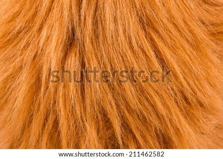 Abstract brown fake animal fur texture. - stock photo