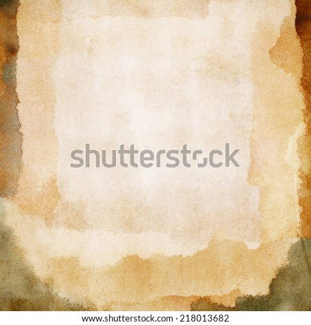 Abstract brown watercolor background with space for text - stock photo