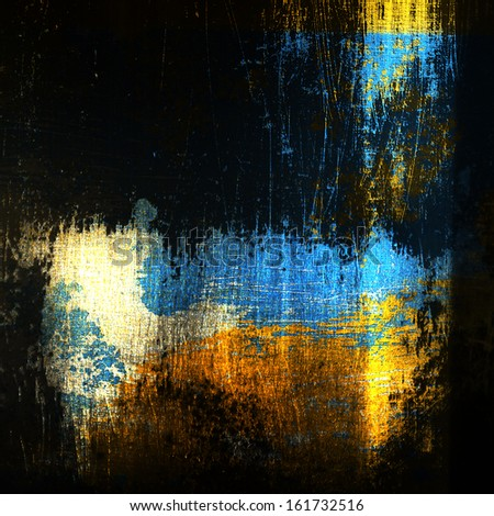 abstract brush strokes on metal - stock photo