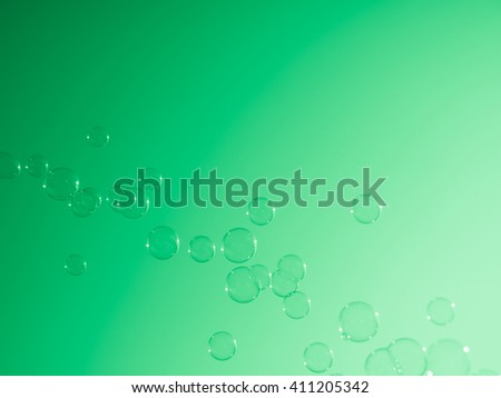 Abstract bubble soap water fly background. - stock photo
