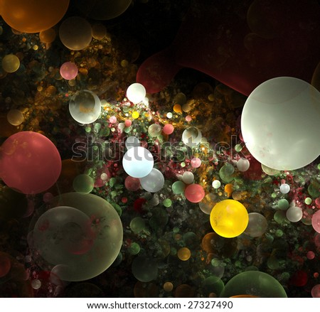 abstract bubbles background. yellow palette.