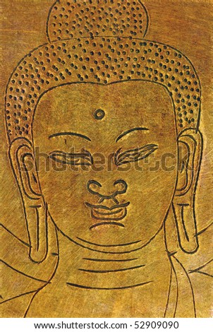abstract buddha background - stock photo