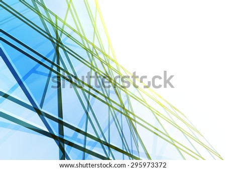 Abstract building from the lines. - stock photo