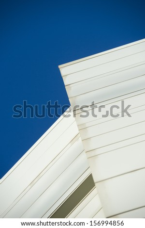 Abstract building, with sky blue - stock photo