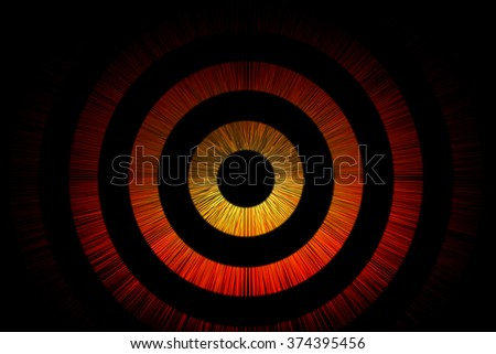 Abstract bullseye background of circles and point